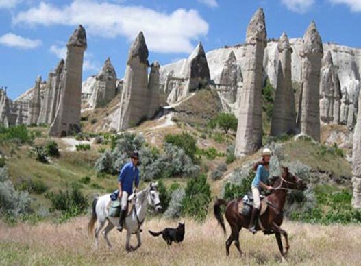 Horse Trail Among the Fairy Chimneys of Cappadocia