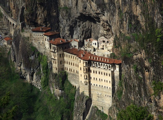 Nestled in a Steep Cliff at an Altitude of About 1,200 metres
